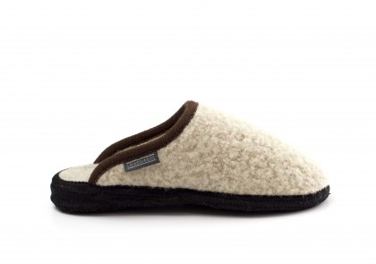 Homy bouclé Beige bordo marrone